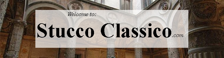 Stucco Classico banner:click for info on this stucco